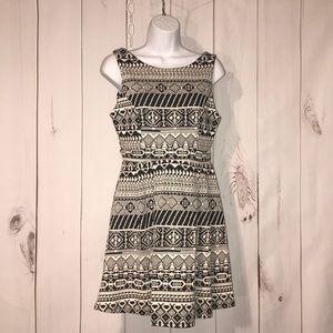 Monteau Aztec tribal print dress large
